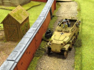 The halftrack driver mans up and takes the British JoP
