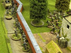 It all comes down to a massive hand to hand battle as the Germans hop the fence. The Paras go down fighting but the Germans win the campaign