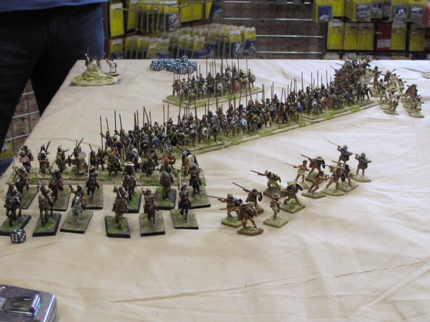 A Greek phalanx arrayed for battle