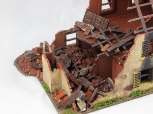 The rubble is a mix of resin, parts included with the kit, and cut up bits of MDF sprue