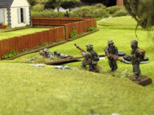 German infantry move up past the farm house to pressure the flank of the Polish advance