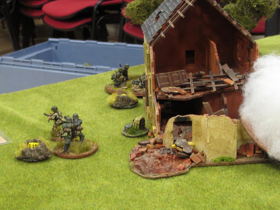 German troops falling back in disorder after taking massive HE hits