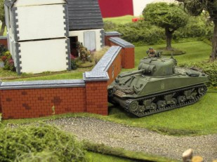 But the AVRE is in position