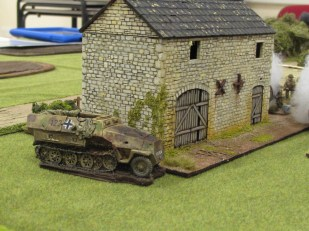 First objective: the stone barn with a squad of Germans inside