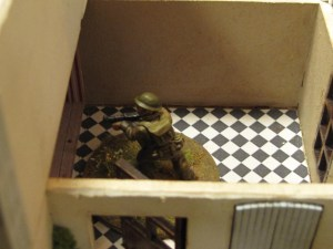 The C/Sgt sneaks in through the kitchen