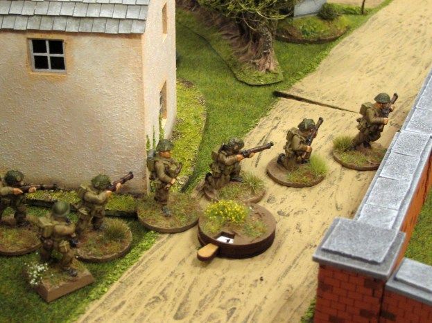 The British patrol forward aggressively, hoping to grab a JOP