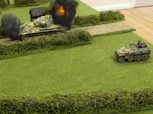 But more German armour is close behind