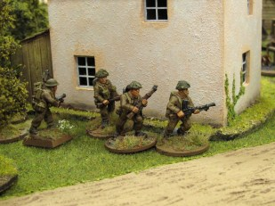...while British infantry move to counter the AT gun
