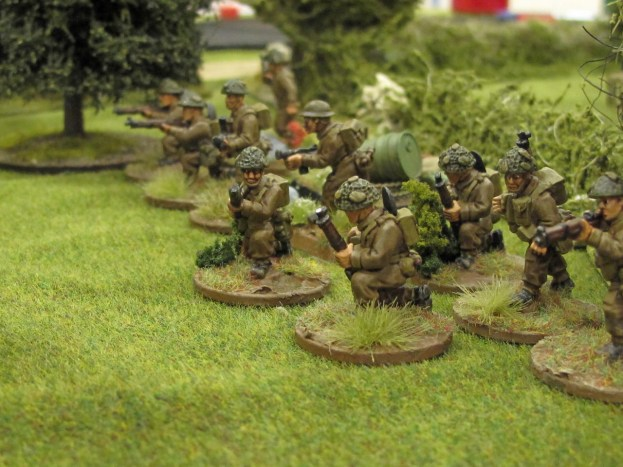 British troops deploy into the orchards