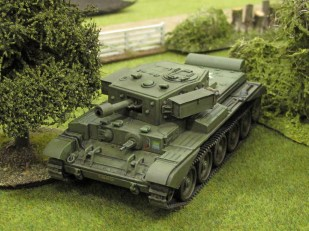 "The ""AVRE"" moves up to support the infantry assault..."