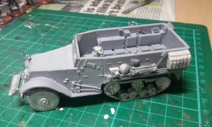 The basic kit, plus stowage and crew figure before painting