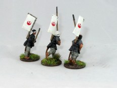 Two of these are ashigaru miniatures, one is an Ikko Ikki who I added a sashimono to