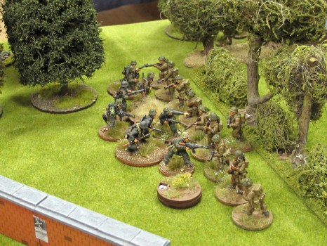 The Germans charge into the British line...