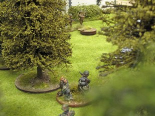 The flamethrower lines up it's last shot on the few Brits left