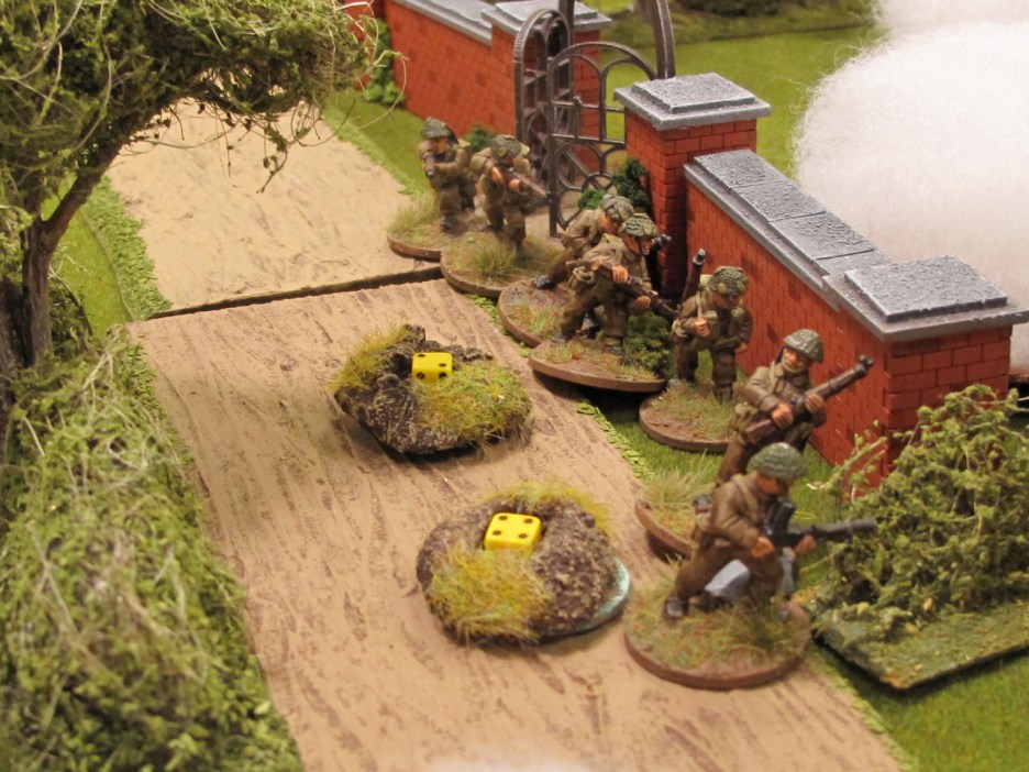 Without cover, the British unit quickly gets shot up.