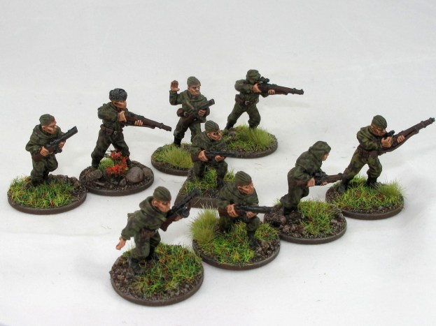 The whole squad, 9 men with mix of rifles and SMGs