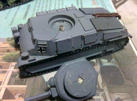 I like to magnetise turrets on resin vehicles, or else they fall off and bounce around in transit