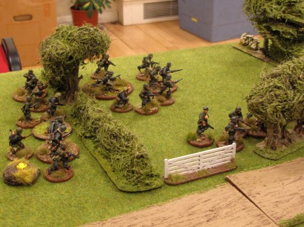 Germans move up a JOP; bring on their CO and loads more infantry