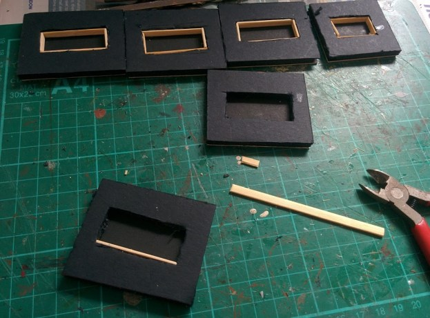 1. Cutting foamcore and stirrers
