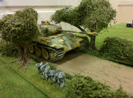 The Germans commit some heavy metal to support the infantry