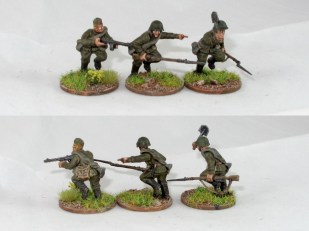 All three bodies are the same, showing how easy it is to get a bit of variation into the troops