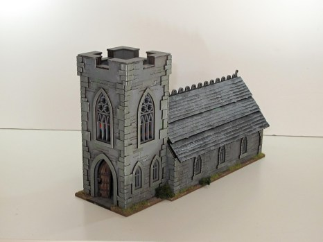 The kit's default Norman-style roof. Good for Normandy or southeast England, no use for anywhere else.