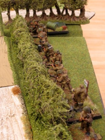British infantry providing base of fire watch the fireworks