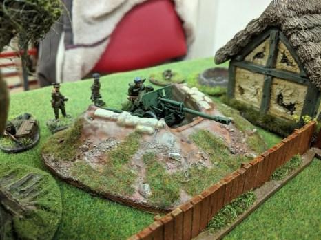 The Soviets reveal their dug-in gun