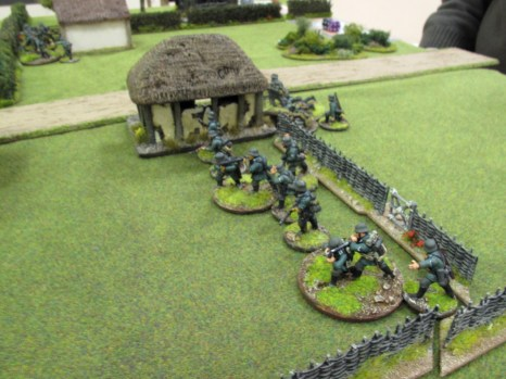 A second German squad moves up on their left