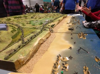 Peterborough Wargames' beautifully presented Omaha Beach game of I Ain't Been Shot Mum