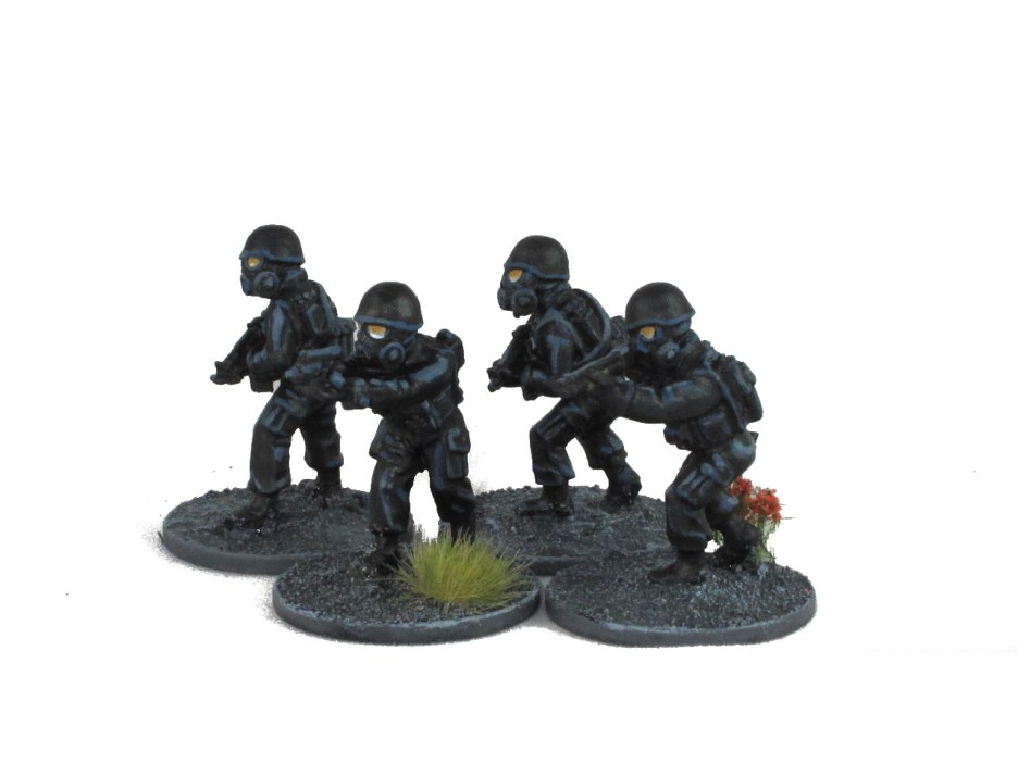 Still working on my technique for black and reflective visors, but I'm happy with these armed police