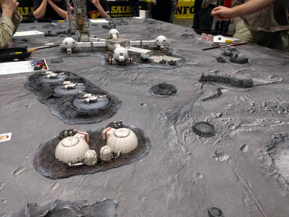 Scratch built UFO terrain