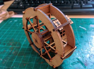 The wheel is a bit fiddly to assemble, and I should have painted the parts on the sprue
