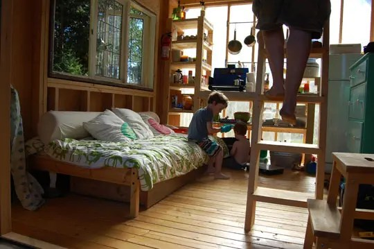 Four People Living In 180 Square Feet
