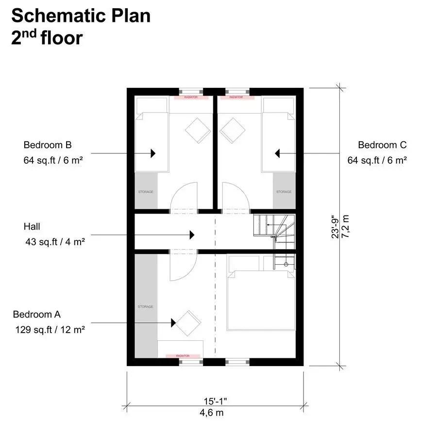 Beautiful Small 3 Bedroom House Plans Novocom Top