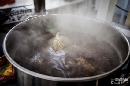 9) Add hops to the mixture
