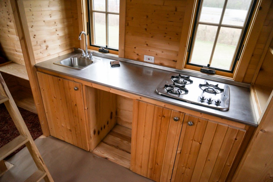 Kitchen of the Lusby Tiny Home