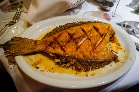 Seared Flounder - under side