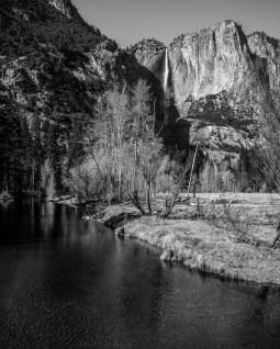 Upper Yosemite Falls in the Background