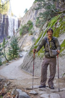 Vernal Falls behind Guillaume
