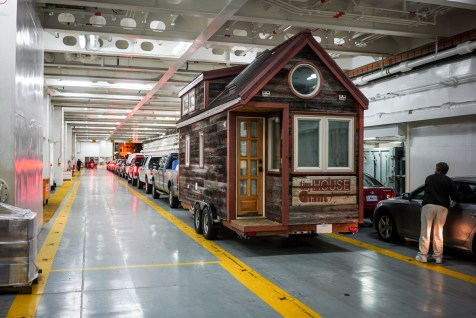 A Tiny House inside a Ferry