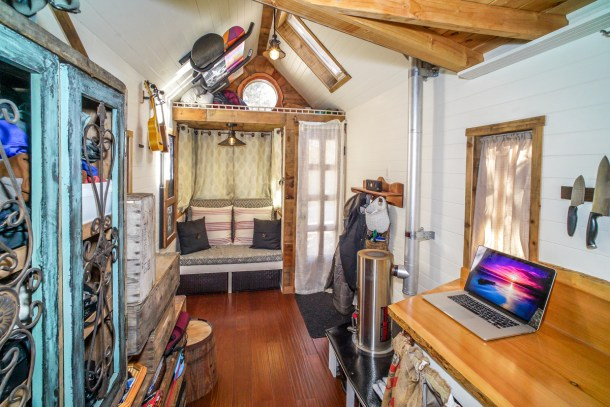 Interiors Of Tiny Houses. Modern Mobile Home. Tiny House Interior