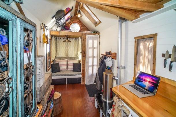 Interiors Of Tiny Houses. Modern Mobile Home. Tiny House Interior