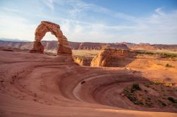 Arriving at Delicate Arch