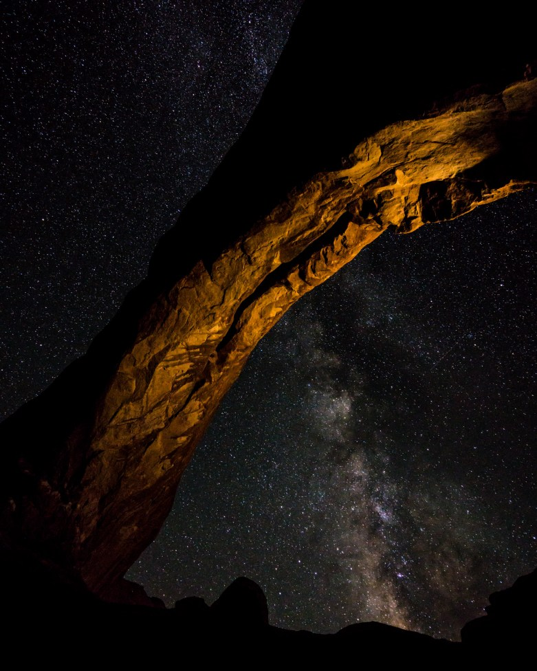 Milky Way through the North Window Arch