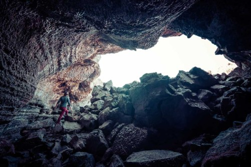 Entering Buffalo Cave