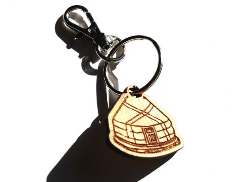 Yurt Key Chain