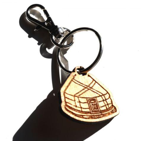 Yurt Key Chain