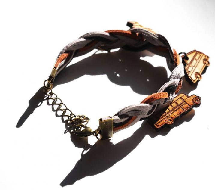 Simple Braid, Bronze Metal, Grey Brown Black
