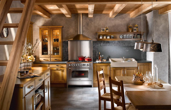 Rustic Design / Source: Smart Home Kitchen